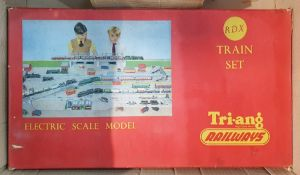 Triang RDX electric scale model train set(boxed) and a quantity other Triang '00' gauge accessories
