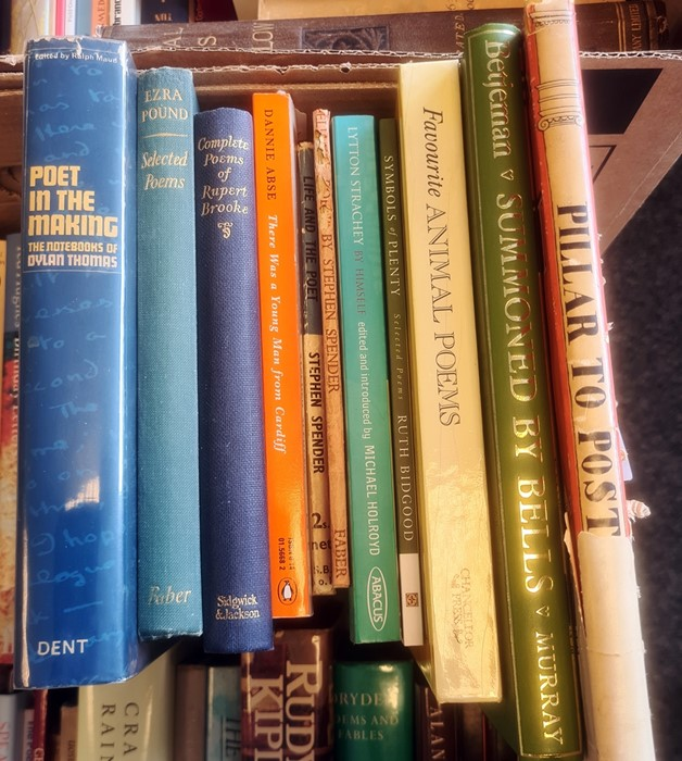 """Quantity of books relating to poetry, some signed, to include:- Ashby, Cliff """"The Dogs of Dewsbury"""", - Image 6 of 6"""