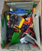 Two boxes of assorted toys and building kits including Lego