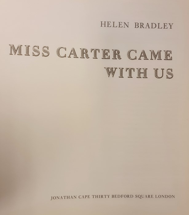 """Bradley Helen """" And Miss Carter wore Pink..."""" Jonathan Cape 1971, ills, pink endpapers, d-j , not - Image 12 of 13"""