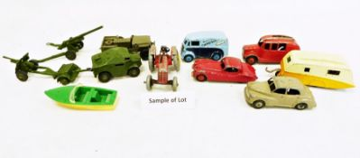 Principally Dinky model vehicles to include Studebaker No.169, Morris 10 CWT van, Commer pick up