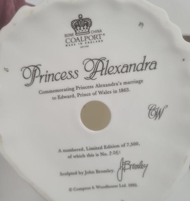 Three Coalport Royal Bridesto include 'Queen Victoria', 'Queen Mary' and 'Princess Alexandra' (with - Image 3 of 4