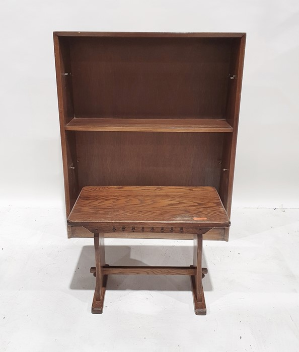 Open bookcase and an single oak coffee table (2)