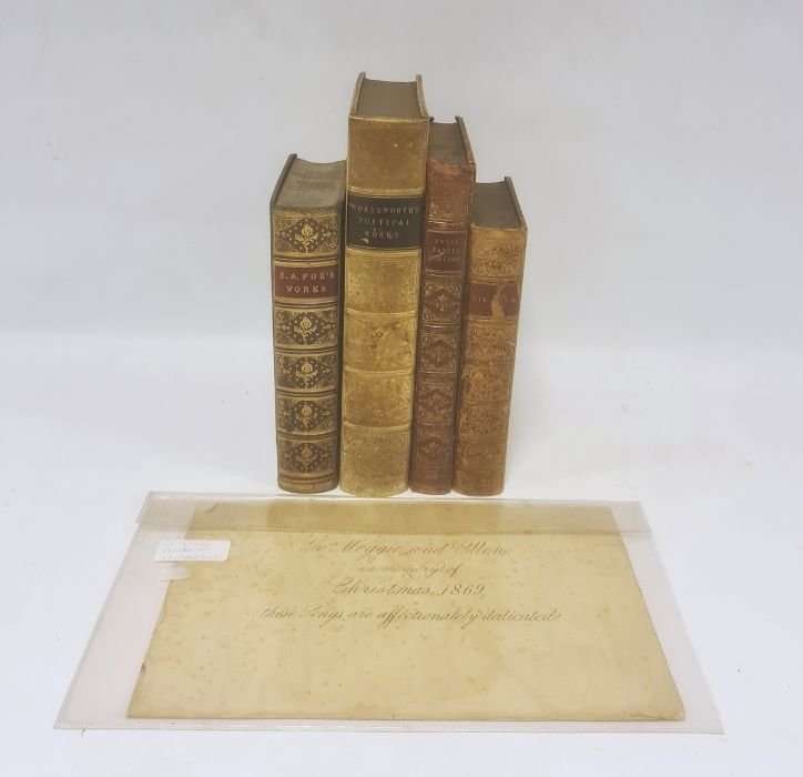 FINE BINDINGS The works of Edgar Allan Poe, Including the choicest of his critical essays,