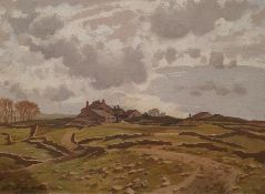 John Alfred Haggis (1897-1968) Oil on canvas Grassington Moor, signed lower left, 44.5 x 60cm