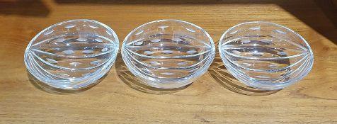 Set of three Whitefriars melon bowlsby Geoffrey Baxter, 12cm diameter (3)