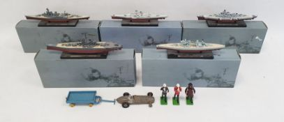 Quantity of DeAgostini painted models of shipsandother toys