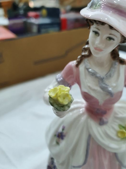 Collection of six Coalport Cries of London figurines to include 'The Flower Seller', 'Oranges and - Image 15 of 29