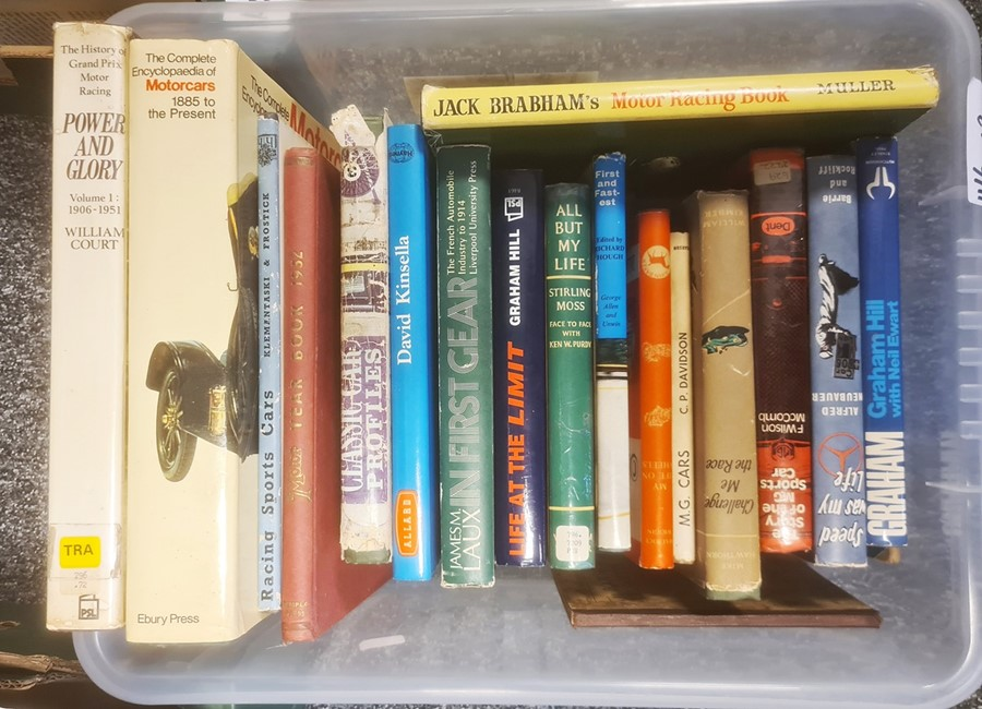 Motoring interest, quantity of books relating to motor racing to include Mike Hawthorn, Alfred