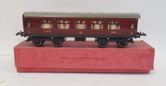 Hornby series '0' gauge No.2 Corridor coach (first-third), no.C574, in LMS Livery (boxed)
