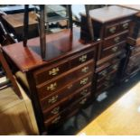 20th century bedroom suiteto include chest of five drawers, two bedside chests and one long low
