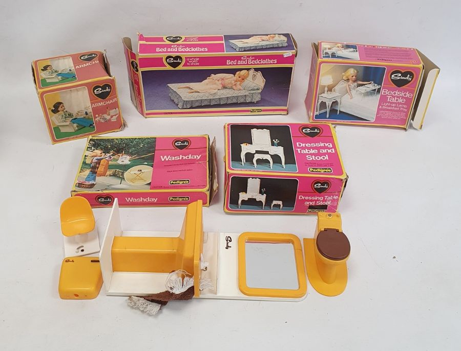 **** WITHDRAWN **** Quantity of Sindy accessoriesincluding action kitchen unit, shower, wardrobe, - Image 2 of 2
