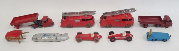 Quantity of diecast model vehicles including a Dinky model of The Thunderbolt, a Dinky Maserati