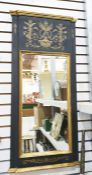 Rectangular mirror in painted frame, 93cm x 42.5cm Condition ReportThe style is 19th century however