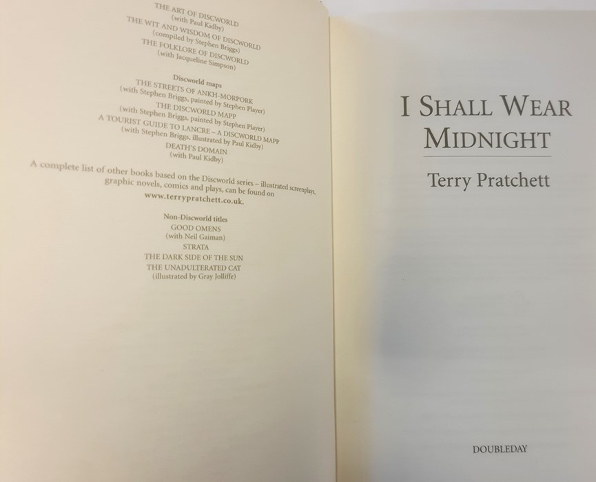 "Pratchett, Terry ""Nation"" (2 copies), ""Wintersmith"", ""I Shall Wear Midnight"", ""A Hatful of Sky"", "" - Image 10 of 21"