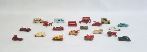 Quantity of Lesney matchbox vehicles to include; ambulance, pickup truck, bedford no 29, massey