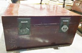 Chinese-style leather trunk