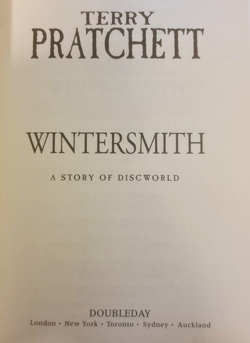 "Pratchett, Terry ""Nation"" (2 copies), ""Wintersmith"", ""I Shall Wear Midnight"", ""A Hatful of Sky"", "" - Image 7 of 21"