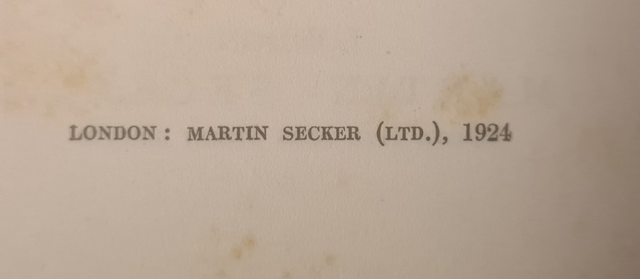 """Yeats W B """" Reveries Over Childhood and Youth"""" MacMillan and Co. 1916, col plates tipped - Image 7 of 35"""