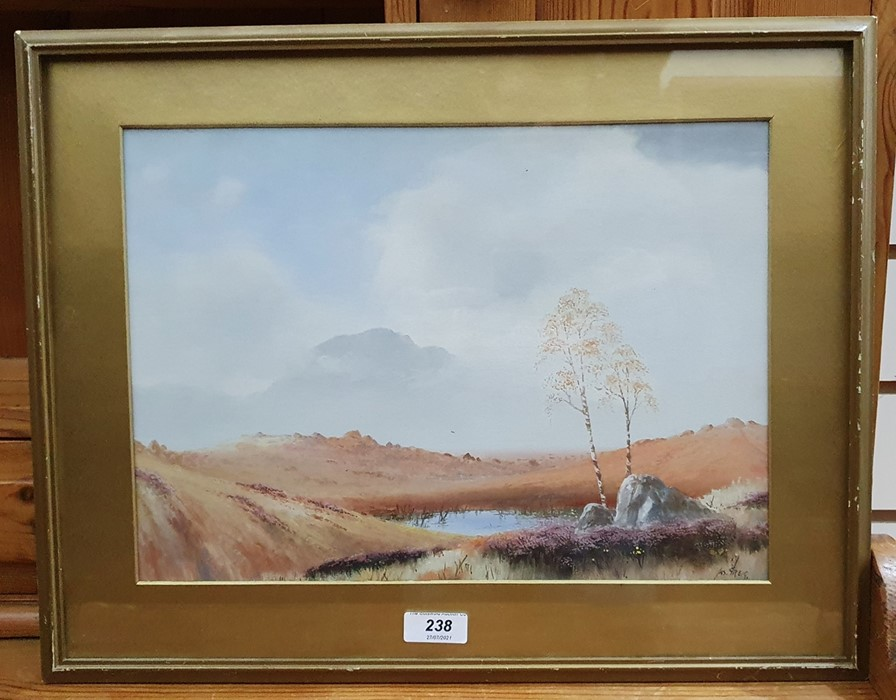 James Greig - late 19th, early 20th century Watercolour and gouache Moorland scene, signed lower - Image 3 of 4