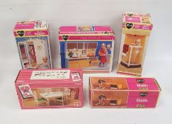 **** WITHDRAWN **** Quantity of Sindy accessoriesincluding action kitchen unit, shower, wardrobe,