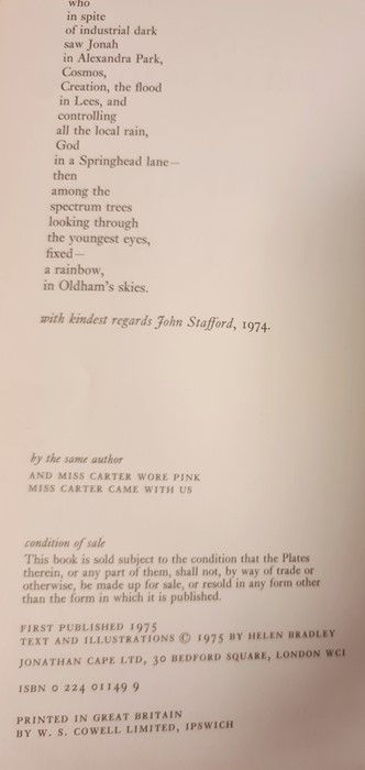 """Bradley Helen """" And Miss Carter wore Pink..."""" Jonathan Cape 1971, ills, pink endpapers, d-j , not - Image 6 of 13"""