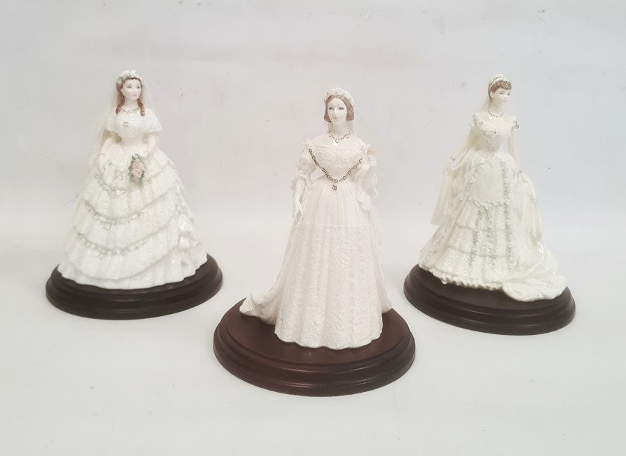 Three Coalport Royal Bridesto include 'Queen Victoria', 'Queen Mary' and 'Princess Alexandra' (with