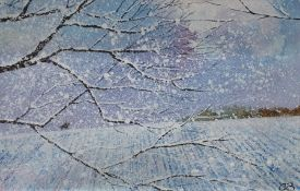 **** LOT WITHDRAWN **** Chris Bourne (20th century school) Oil on board Snowy landscape,