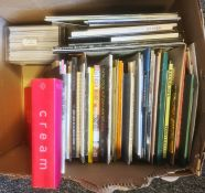 Large quantity of art and design catalogues and ephemera, art books, Karl & Faber catalogues2005,