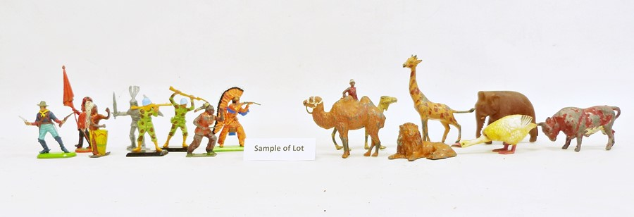 Large quantity of model animals including painted, diecast and plastic, various farm accessories,