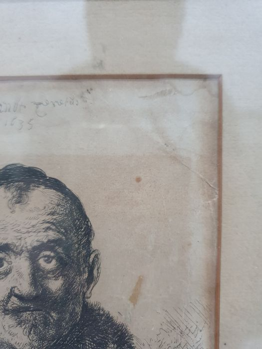 After Rembrandt van Rijn (Dutch - 1606-1669) Etching The First Oriental Head, signed and dated - Image 5 of 16