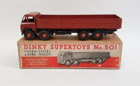 Dinky Supertoys diecast model of a Foden Diesel 8-wheel wagon no.501 with box