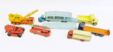 Quantity of Dinky Supertoys to include Foden Pullmore car transporter no.982, 20t lorry-mounted