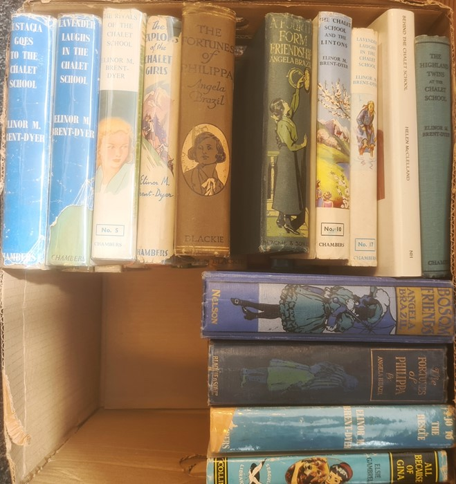 Early 20th Century children's books - Eleanor Brent-Dyer, Angela Brazil, P G Wodehouse ( 2 boxes) - Image 2 of 4