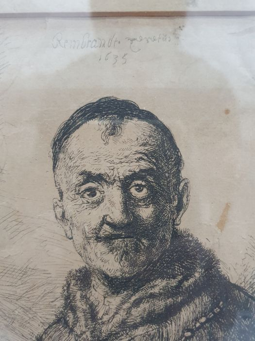 After Rembrandt van Rijn (Dutch - 1606-1669) Etching The First Oriental Head, signed and dated - Image 6 of 16