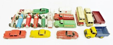 Eight various Dinky model racing carsto include Alfa-Romeo 232 and 23F, Cooper-Bristol no.23G,