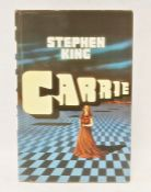"""King, Stephen """" Carrie"""" The New English Library 1974, some toning to edge of pages, purple cloth,"""