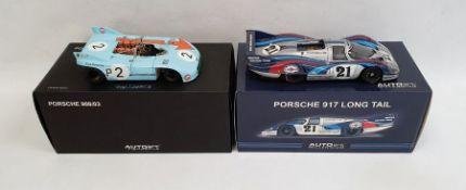 Autoart MillenniumPorsche 917 Long Tail and an Autoart Signature Porsche 908/03, both boxed(2)