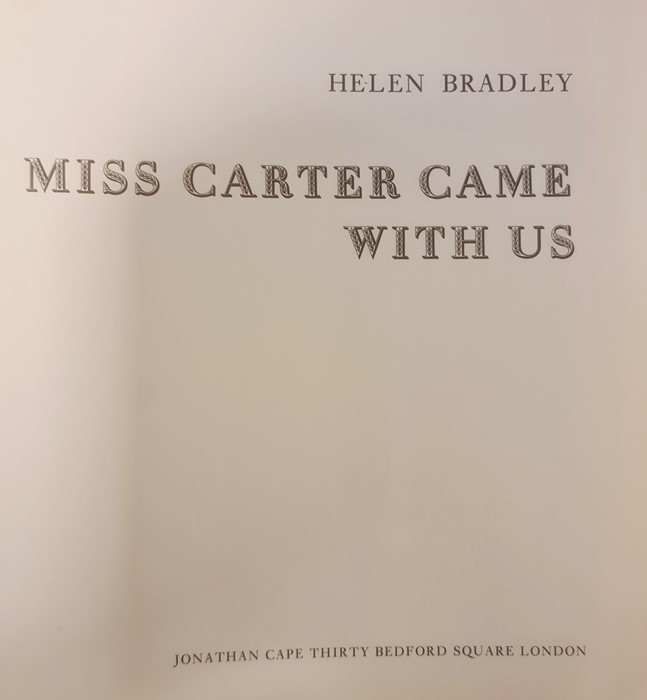 """Bradley Helen """" And Miss Carter wore Pink..."""" Jonathan Cape 1971, ills, pink endpapers, d-j , not - Image 2 of 13"""