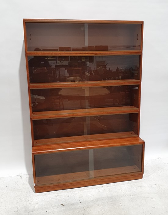 20th century Simplex five-section bookcasewith sliding glass doors, 122cm wide