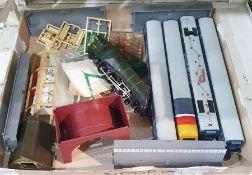 Hornby plastic Mallard locomotive,a Hornby Intercity diesel model train and track accessories