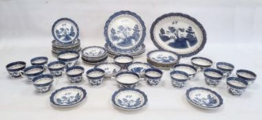 Booths Real Old Willow pattern part table service comprising plates, side plates, cups, oval serving
