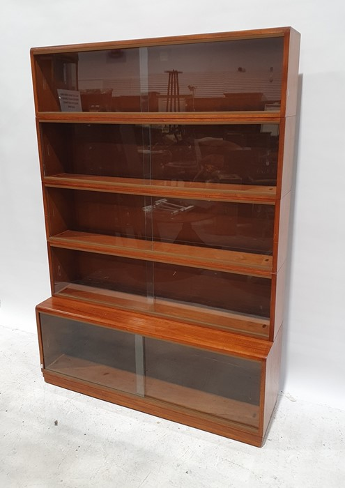 20th century Simplex five-section bookcasewith sliding glass doors, 122cm wide - Image 2 of 2