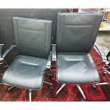 Two Dauphin office swivel chairs (2)
