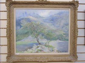 """Welsh, 20th century school Oil on canvas """"Llyn Cwnbychau, North Wales, May 1927"""", signed lower right"""