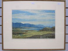 """David Young Cameron (1865-1945) Colour print """"Far Feochan"""", signed in pencil lower right, 33cm x"""