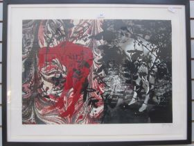 John Piper (1903-1992) Limited edition print Nude hidden amongst leaves in red and black, no.22/70,