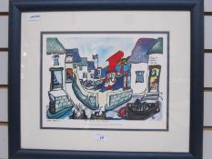 """Celia Duncan Limited edition print """"The Pilchard, Pirate and Picasso"""", no.4/500, dated 2003, 24."""