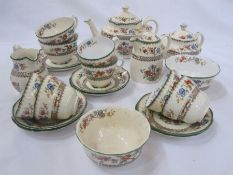 Copeland Spode 'Chinese Rose' part tea service, reg no. 629599
