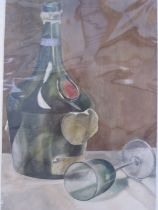 Frances Mary Towers (early 20th century school) Watercolours Various still life studies, wine